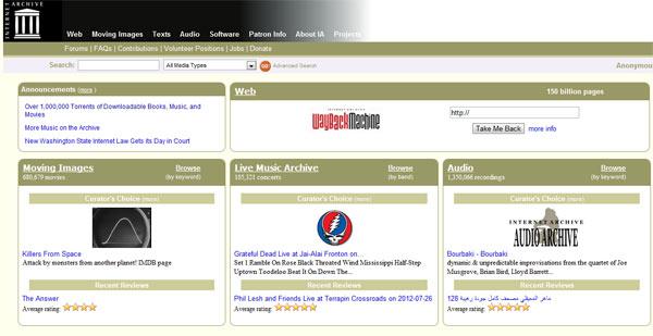 Internet Archive supera el millón de torrents disponibles en menos de quince días